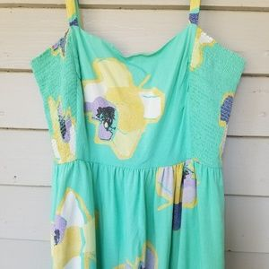 Corey Lynn Calter Dress Large Mint Watercolor